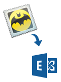 The Bat to Exchange server