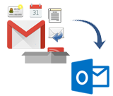 Gmail MBOX to Outlook