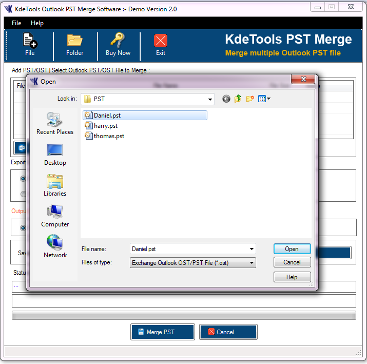 Outlook PST Merge