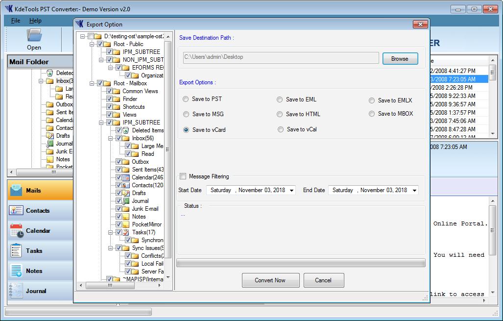 Outlook PST Converter » Export & Convert Outlook PST File