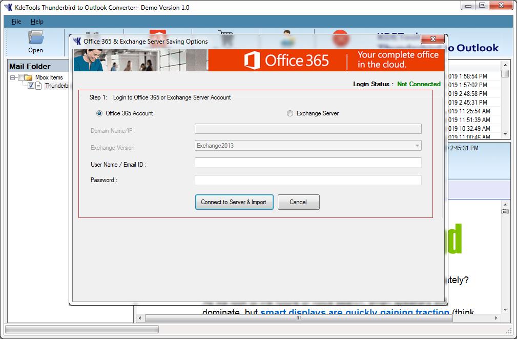 Thunderbird to Outlook Converter to Export Thunderbird to