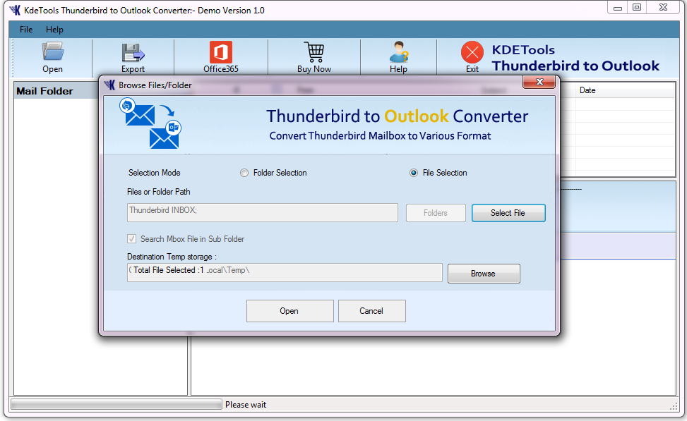 How to work Thunderbird to Outlook Converter?